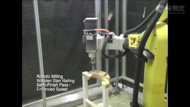 (机器人材料加工)6.木质工件铣曲线槽;